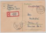 42- 50 DIII, (incl. 43DIIIb) rs. auf Satz- E.- Karte von Coswig nach Dresden, jede Marke rs. gepr. Dr. Jasch BPP