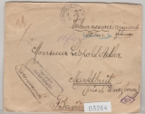 Belgien, 1923, 1,1 Fr. MiF rs. auf Auslands- Wertbrief von Bruxelles nach Marktbreit (D.)