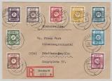 42- 50A , zusammen auf E.- Satzbrief von Dresden nach Pfaffenhofen
