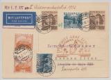 DR / Österreich, 1932, DR (rs.) + Österreichische MiF auf Zuleitungspost zur 3. Südamerikafahrt von Wien nach Argentinien