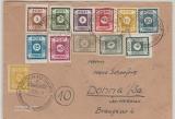 42- 50A (ohne 45A, dafür aber die 43Ab) + 52/ 53 + 55, zusammen auf Brief von Heidenau nach Dohna