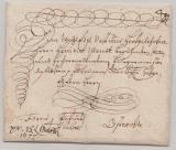 Preussen (?), 1677, 5- zeiliger Schnörkelbrief von ... (?) nach Osterode