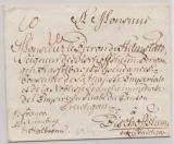 Bayern, ca. 1700, Briefumschlag mit 8- zeiliger Anrede von ... (?) nach Bischofsheim
