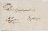 Baden, 1879, Brief mit Postablagestempel: Elwangen Postablage Zoeblingen nach Zipplingen (?)