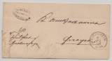Baden, 1874 (?), Brief mit Postablagestempel: Heidenhaeim Postablage Herbrechthagen nach Giengen