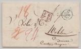 Frankreich, 1834, Brief aus Paris nach Wohlen (CH), mit div. Tax- und Transitvermerken