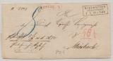 Preussen, Nordhausen / Stadtpost, 1866, Auslagenbrief nach Miesbach