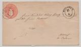 1 Sh.- GS- Umschlag, gelaufen als Fernbrief von Rostock nach Althof