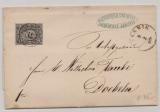 Sachsen, 1860, Mi.- Nr.: 8 (Luxusstück) als EF auf Fernbrief von Leissnig nach Doebeln
