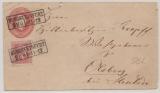 1 Sgr.- GS- Umschlag mit 1x Mi.- Nr.: 10 als Zusatzfrankatur, auf Fernbrief von Burgsteinfuhrt nach Olsberg