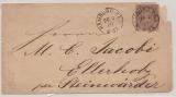 NDP, 1869, Mi.- Nr.: 12 auf Ortsbrief innerhalb des Stastzustellbereiches von Hamburg nach Ellerholz