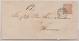 NDP, ca. 1870, Mi.- Nr.: 3 als EF auf Ortsbrief innerhalb Hannover`s
