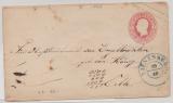 Hannover, 1861, 1 Gr.- GS- Umschlag (Mi.- Nr.: U8II) gebraucht als Fernbrief von Vienenburg (netter vorphila-Stempel!) nach Celle