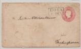 Hannover, 1861, 1 Gr.- GS- Umschlag (Mi.- Nr.: U8II) gebraucht als Fernbrief von Hoya (netter Vorphila-Stempel!) nach Thedinghausen