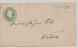 Hannover, 1860, 1 Gr.- GS- Umschlag (Mi.- Nr.: U1) gebraucht als Fernbrief von Lüchow nach Wustrow (nette vorphila-Stempel!)