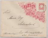 Bayern, 1906, 10 Pfg.- Privat- GS- Umschlag, zu Ehren der Centenarfeier, gelaufen von Schlachters (?) nach Schanbach
