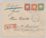 Bayern, 1901, 5 Pfg.- GS- Umschlag, + 35 Pfg. Zusatzfrankatur, als MiF auf R.- Auslandsbrief von Kulmbach nach Bischofszell (CH)