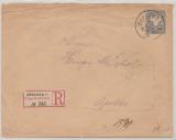 Bayern, 1896, 20 Pfg.- GS- Umschlag, + 10 Pfg. Zusatzfrankatur (rs.), als MiF auf R.- Fernbrief von München nach Apolda