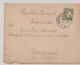 Bayern, 1892, 5 Pfg. als EF auf Bücherzettel (!!!) von Bayreuth nach Friedrichshagen