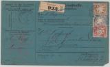 Bayern, 1886, 80 Pfg. MiF auf Auslandspaketkarte für 1 Paket von Pimasens nach Genf (?)