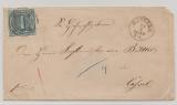 T + T, 1859, 1 Gr. (Mi.- Nr.: 4) als EF auf Fernbrief von Rinteln nach Cassel