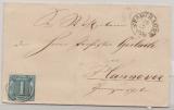 T + T, 1859, 1 Gr. (Mi.- Nr.: 4) als EF auf Fernbrief von Stadthagen nach Hannover