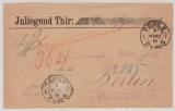 DR, 1874, Mi.- Nr.: 22 als EF auf Wertbrief- Vorderseite, eines Wertbriefes von Thorn (Hufeisenstempel!) nach Berlin