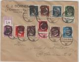 AP 781- 791, auf Ortsbrief, mit seltener Chemnitz- 3 Unkenntlichmachung!