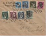 AP 791- 799, auf Ortsbrief, mit seltener Chemnitz- 3 Unkenntlichmachung!
