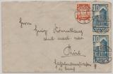 Danzig, 1937, Mi.- Nr.: 193 + 262 (2x) als MiF auf Fernbrief von Danzig nach Rine (?)