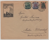 Danzig, 1920, nette und interessante 3- Farben MiF auf Fernbrief von Danzig nach Berlin