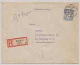 Danzig, 1934, Mi.- Nr.: 215 als EF auf Einschreiben- Fernbrief von Danzig nach Leipzig