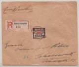 Danzig, 1923, Mi.- Nr.: 145 + 152 (2x, rs.) als MiF auf Einschreiben- Fernbrief von Danzig nach Chemnitz