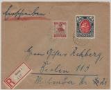 Danzig, 1922, Mi.- Nrn: 30 + 61 als MiF auf Einschreiben- Fernbrief von Danzig nach Berlin