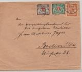 Danzig, 1923, Mi.- Nr.: 130, 142 + 144 als MiF auf Fernbrief von Danzig nach Berlin