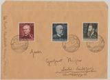 Danzig, 1939, Mi.- Nr.: 306- 308, kpl. Satz als MiF auf Fernbrief von Danzig nach Berlin