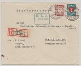 Danzig, 1938, Mi.- Nr.: 193 xa + 200yba als MiF auf Einschreiben- Fernbrief von Danzig nach Berlin