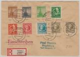 92- 99, E.- Satzbrief mit 9 versch. Werten, von Erfurt nach Magdeburg
