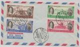 Jordanien, 1964, 15- 80 Fils- Marken auf den Papstbesuch, auf Umschlag mit Stempel Jerusalem, nicht gelaufen