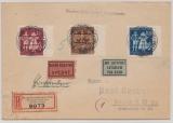 B + M, 1944, Mi.- Nr.:133- 35, als Satz- MiF-FDC, per Eilboten- Luftpost- Einschreiben von Prag nach Berlin