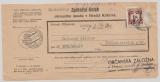 B + M, 1941, Mi.- Nr.: D 6, als EF auf Rückschein von Königsgrätz nach Hohenbruck und zurück