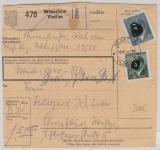 B + M, 1944, Mi.- Nr.: 106 u.a. als MiF auf Paketkarte, für ein Wertpaket von Wlaschim nach Christburg (?)