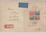 DR, 1930, Block 1 als EF auf Auslandseinschreiben von Berlin nach Forbach (Fr)