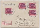 Fredersdorf, Mi.- Nr.: 26 (4x) als MeF auf Einschreiben- Fernbrief von Fredersdorf nach Neuenhagen
