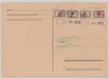 Fredersdorf, Mi.- Nr.: Sp. 101- 102, 106 + Sp. 109, auf Karte, abgestempelt, nicht gelaufen