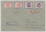 Fredersdorf, Mi.- Nr.: Sp. 101- 102 + Sp. 157- 160 als MiF auf Einschreiben von Fredersdorf nach Berlin