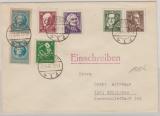 107- 111 A, u.a. auf Satz- E. Fernbrief von Erfurt nach Göttingen