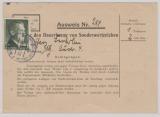 DR, 1943, Mi.- Nr.: 799A, als EF auf Ausweis zum Bezug von Sammlermarken!!! Extrem selten!