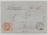 Baden, 1866, Mi.- Nr.: 20b, als EF auf Charge- Fernbrief von Heidelberg nach Berlin, rs. gepr. Englert BPP