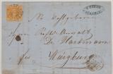 Bayern, 1865, 1 Kr. (Mi.- Nr.: 8) als EF auf Ortsbrief innerhalb Würzburgs